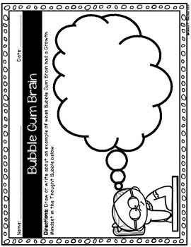 """""""Bubble Gum Brain"""" Student Pre/Post-Test Assessment & Activity"""
