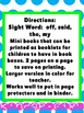 """""""Bug Off"""" Mini Booklet-Kid Sized:Featuring OFF"""