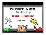 Math Pattern Activity-- Bug Themed