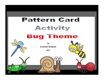 Math Pattern Activity-- Bug Themed