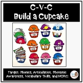 """Build-A-Cupcake"" CVC Phonics and Articulation Packet"