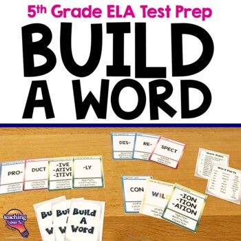 "Greek & Latin Roots Card Game ""Build A Word"" Prefixes, Root Words, & Suffixes"