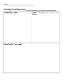 """Building-Schema"" Non-Fiction Reading Graphic Organizer"