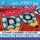 ~*Bulletin Board Letters: Blue Pencils