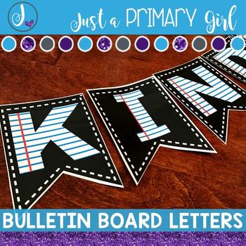 ~*Bulletin Board Letters Bunting - Paper