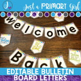 ~*Bulletin Board Letters: Editable in Rainbow