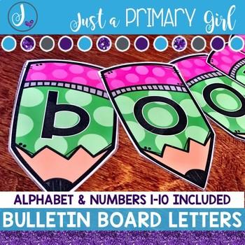 ~*Bulletin Board Letters: Green Pencils