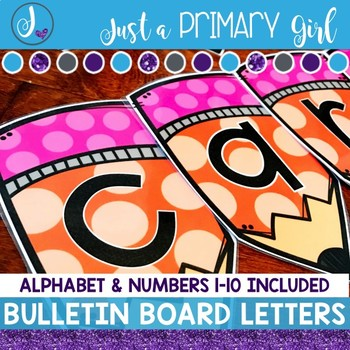 ~*Bulletin Board Letters: Orange  Pencils