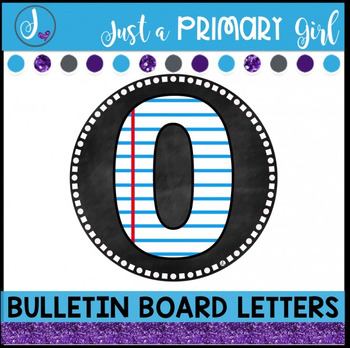 ~*Bulletin Board Letters: Paper with Chalk