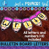 Bulletin Board Letters: Yellow Pencil