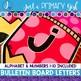 ~*Bulletin Board Letters: Pink  Pencils