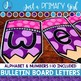 ~*Bulletin Board Letters: Purple Pencils