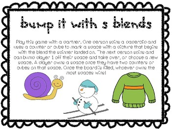 """""""Bump It"""" Game With Beginning S Blends"""
