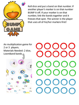 """Bump game"" for multiplication 1-5"