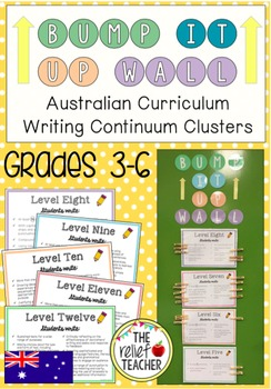 *Bump it Up Wall* Aligned with Australian Writing Continuum Clusters 8-12 (3-6)