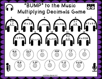 """Bump to The Music"" Decimal Game Bundle"