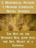** Bundle! ** 2 Historical Novel Studies and 1 Memoir Novel Study