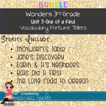 3rd Grade Wonders Unit 3 Vocabulary Fortune Tellers