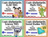 **Bundle**All 4 subjects TEKS posters!! (4th grade)- Chevr