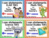 **Bundle**All 4 subjects TEKS posters!! (4th grade)- Circl