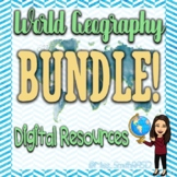 *Bundle!* Central America and Caribbean Countries Digital Map Activities!