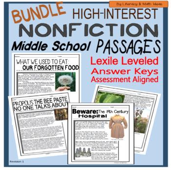(Bundle) High-Interest Nonfiction Passages (Middle School)