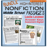 (Bundle) High-Interest Nonfiction Passages (Middle School)