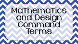 {Bundle} IB MYP Command Terms for Mathematics and Design Posters