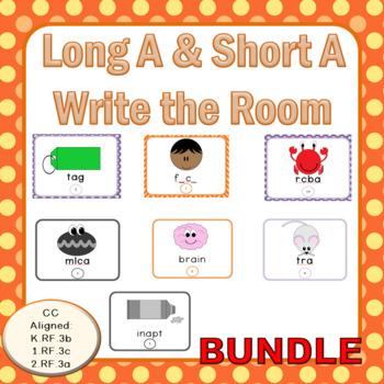 (Bundle) Long A & Short A: Write the Room