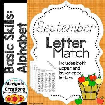 Bundle NO PREP September Basic Skills Alphabet Activities and Fluency Probes