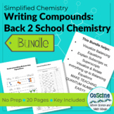 *Bundle* Writing Compounds and Back to School Chemistry