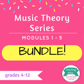 **Bundled** Complete Music Theory Series - all PowerPoints
