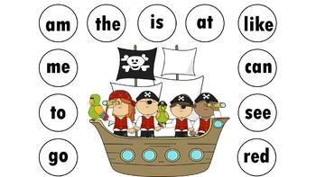 *Bundled* Jan Richardson Sight Words Battleship Game Levels A-F