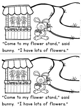 """Bunny's Flower Stand"" (A Spring Emergent Reader Dollar Deal)"