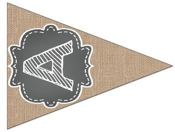 {Burlap&Chalkboard} Bunting Alphabet Letters & Numbers *Tons of Options*