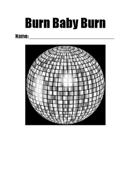 """""""Burn Baby Burn"""" -Chapter-by-Chapter Reading Comprehension Questions"""