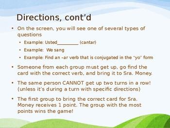 ¡Búscalo! (Look for it!) Game- Spanish Preterite of regular -ar, -er, -ir verbs