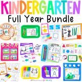 Kindergarten Math & Literacy Bundle | Holiday & Seasonal A
