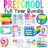 Preschool Math & Literacy Growing Bundle | Holiday & Seaso