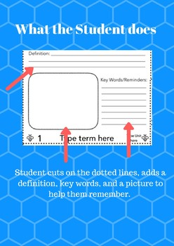 """Buzzword"" Flashcard Templete EDITABLE!"