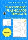 """Buzzword"" Flashcard Templete EDITABLE!"