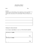 """By the Waters of Babylon"" Literary Element Worksheet"
