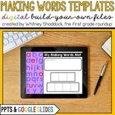 Digital Making Words Mats Templates for Google Slides