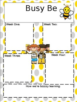 """""""Bzzy Bees"""" monthly newsletter template"""
