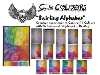 """C""-Colours-""Swirling Alphabet"""