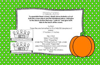 """C'est l'Halloween"" Song Headbands and Lyrics"