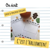"""C'est l'halloween"" writing prompt"