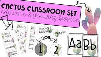 **CACTUS CLASSROOM THEMED DECOR*** GROWING BUNDLE-- 100 PAGES SO FAR