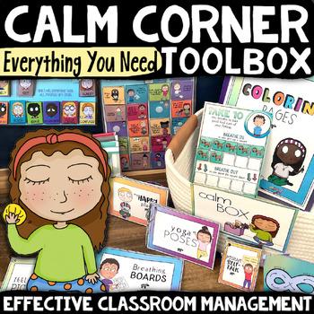 CALM DOWN CORNER *Take a Break Self-Regulation Coping Skills & Mindfulness Kit