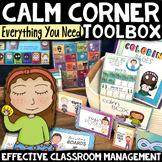 CALM DOWN CORNER: Behavior Classroom Management Coping Tools Mindfulness Kit